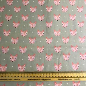 Into The Woods Fox Cotton Fabric