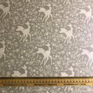 Bambi Silhouette In Grey Cotton Fabric