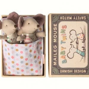 Maileg Baby Twin Mice In A Box