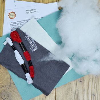Corinne Lapierre Felt Craft Kit Blue Elephant