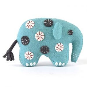 Corinne Lapierre Felt Craft Kit Blue Elephant