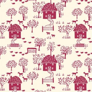 Liberty's The Cottage Garden Cottage Lane Red