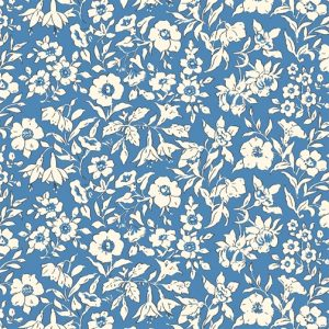 Liberty's The Cottage Garden Morning Dew Blue