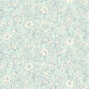 Liberty's The Cottage Garden Morning Dew Light Blue