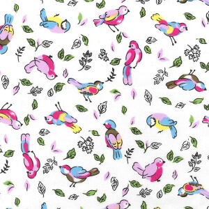 Rose & Hubble Birds & Leaves Cotton Poplin