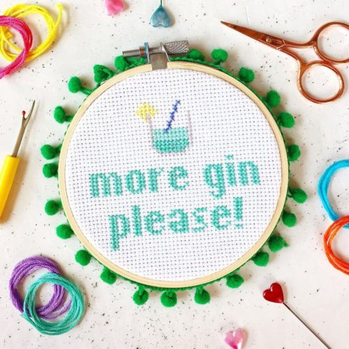 More Gin Please Cross Stitch Kit