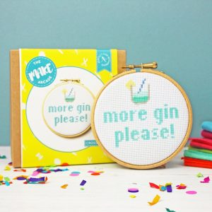 More Gin Please Cross Stitch Kit