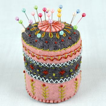 Corinne Lapierre Felt Pincushion Embroidery Kit