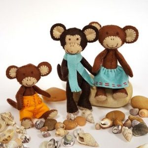 Corinne Lapierre Felt Craft Kit Monkey Family