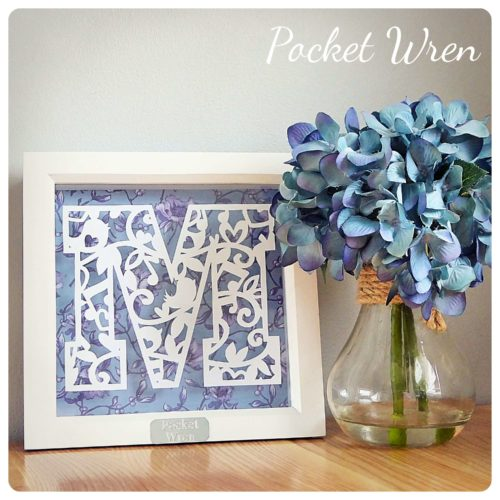 paper wren paper cutting monogram workshop bibelot