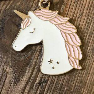 Unicorn Enamel Keyring