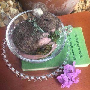 needle felted mouse workshop bibelot
