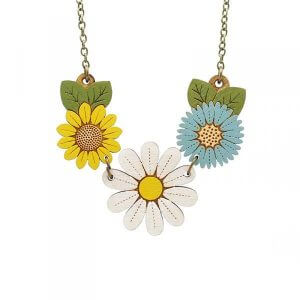 Layla Amber Daisy and Wild Flowers Necklace