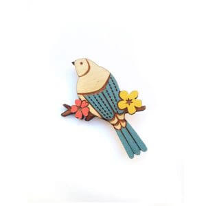 Layla Amber Miniature Swallow Brooch