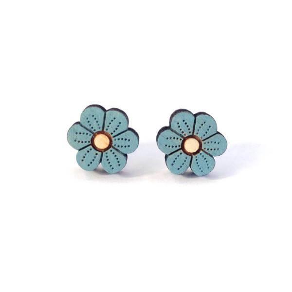 Layla Amber Blue Flower Earrings
