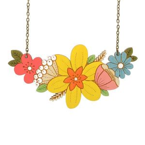 Layla Amber Daffodil Bouquet Necklace
