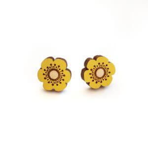 Layla Amber Yellow Flower Earrings