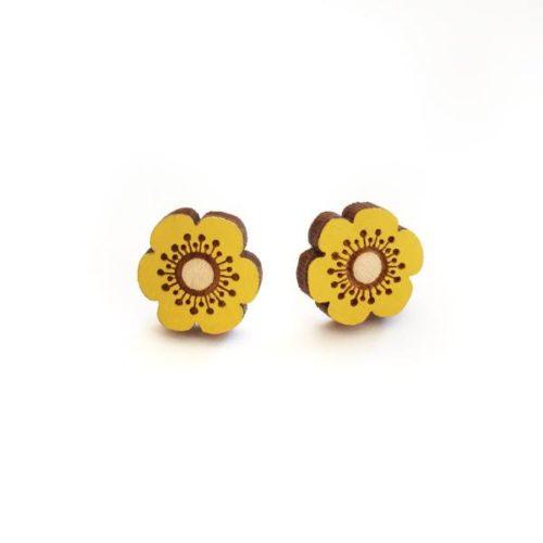 Layla Amber Yellow Flower Earrings