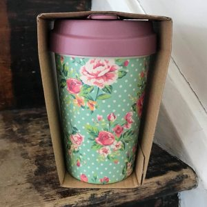 Vintage Roses Bamboo Cup