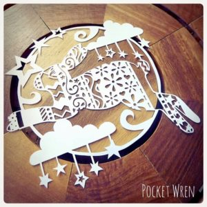 Paper Cut Moon Gazing Hare with Pocket Wren - Saturday 27th July: 10am-1pm