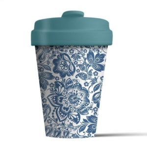 BambooCup Blue Flowers
