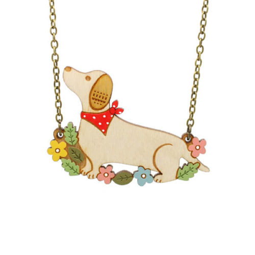 Layla Amber Dachshund Necklace