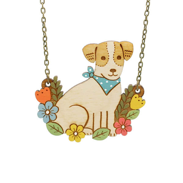Layla Amber Jack Russell Necklace