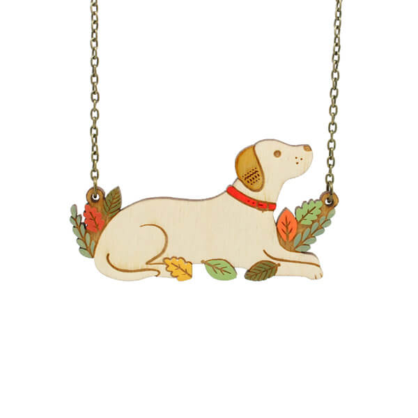 Layla Amber Labrador Necklace
