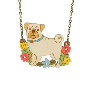 Layla Amber Pug Necklace