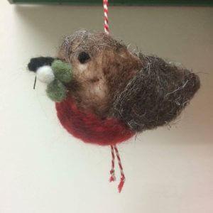 needle felted robin workshop bibelot