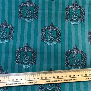 Harry Potter Slytherin House Cotton Fabric