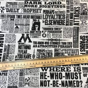 Harry potter Newsprint Cotton Fabric