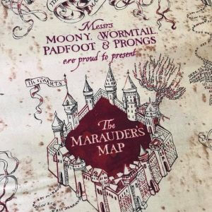 Harry Potter Marauders Map Cotton Fabric