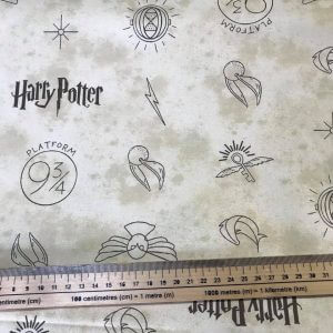 Harry Potter Gold Snitch Cotton Fabric