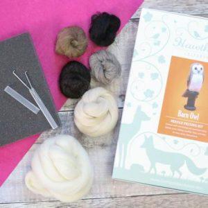 Hawthorn Handmade Barn Owl Needle Felting Kit
