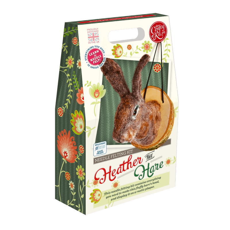 Heather the Hare Needle Felting Kit