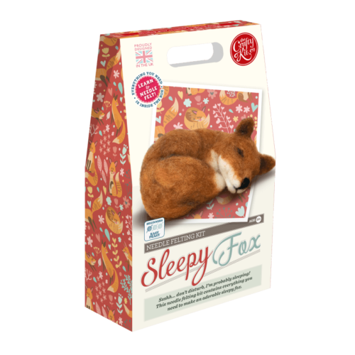 Sleepy Fox Needle Felting Kit