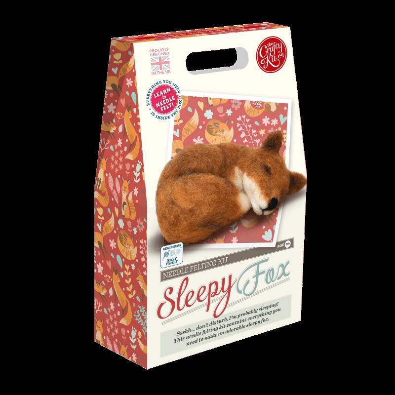 Sleepy Fox Needle Felting Kit
