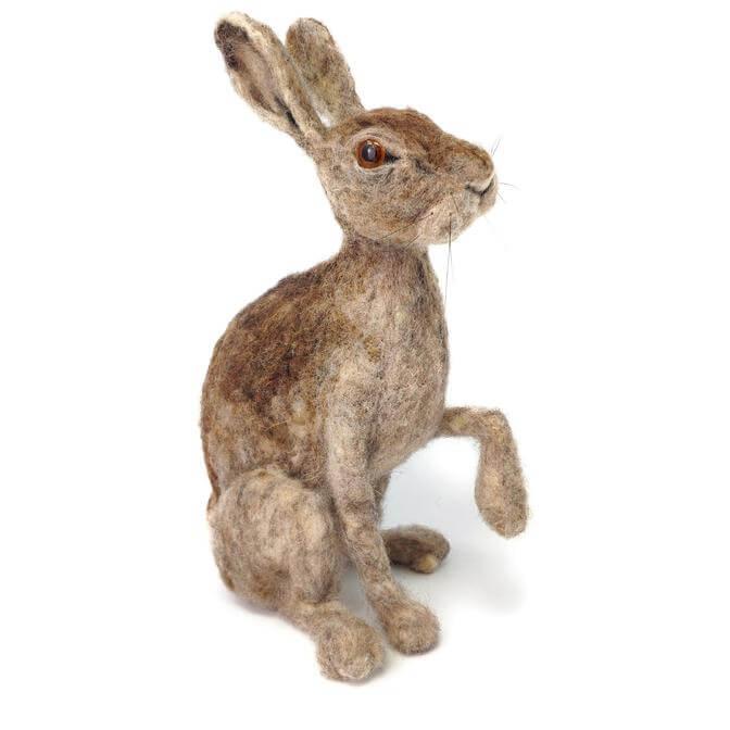 Wild Scottish Hare Needle Felting Kit