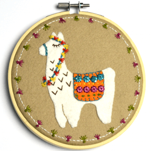 Corrine Lapierre Felt Llama Applique Hoop Kit