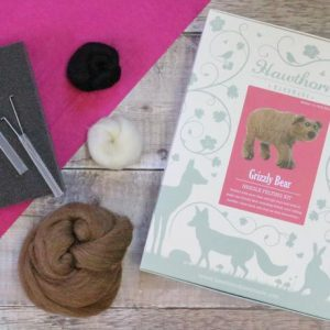 Hawthorn Handmade Grizzly Bear Needle Felting Kit