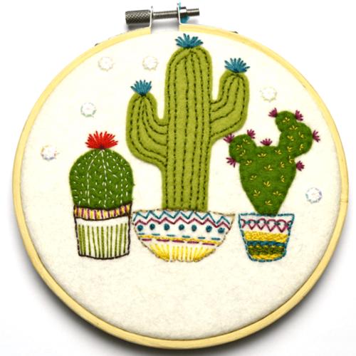 Corrine Lapierre Felt Cactus Applique Hoop Kit