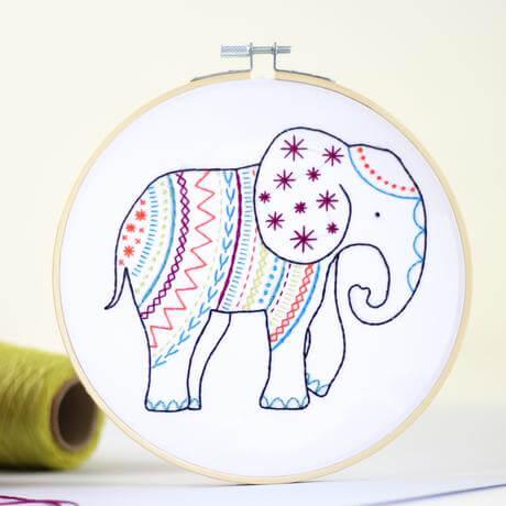 Hawthorn Handmade Elephant Contemporary Embroidery Kit
