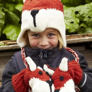 Kids Mittens Fox