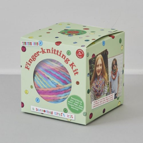 Buttonbag Finger Knitting Kit