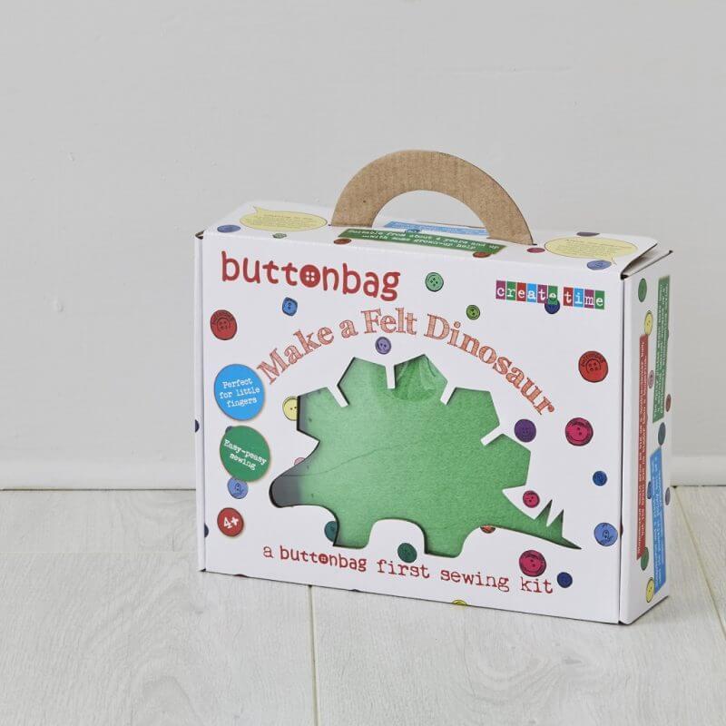 Buttonbag Dinosaur First Sewing Kit