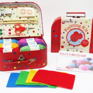 Buttonbag Learn How To Knit Suitcase Kit