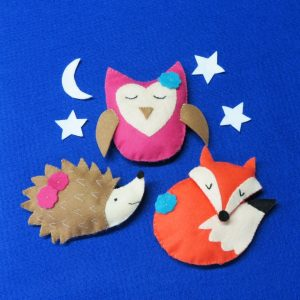 Buttonbag Sleepy Friends Key Ring Kit