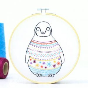 Hawthorn Handmade Baby Penguin Contemporary Embroidery Kit