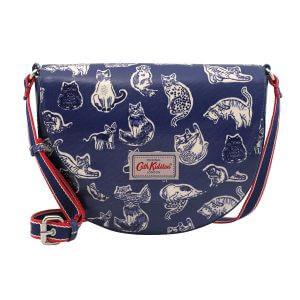 Cath Kidston Squiggle Cats Stratton Saddle Bag